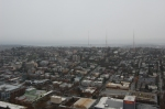 View from the Space Needle - a city blanketed in grey